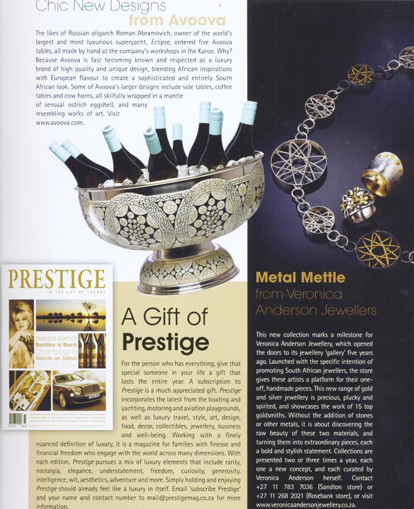 Veronica Anderson press | Prestige Issue 44