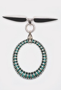 Sterling Silver, Fine Silver and Enamel Brooch R6,840 | Nina Newman
