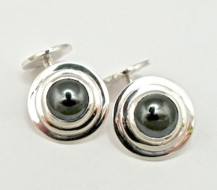 Sterling Silver and Hematite for formal wear