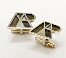 Company logo In Oxidised Sterling Silver