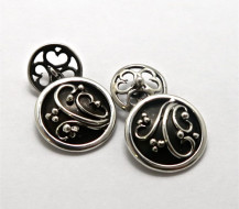 Sterling Silver Scrollwork - with Chain Fitting