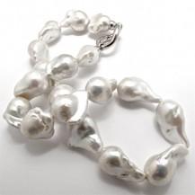 White Freshwater Pearls– XXXL Baroque. – R23,800