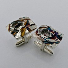 Cufflink | Herkimer Diamond crystals in sterling silver