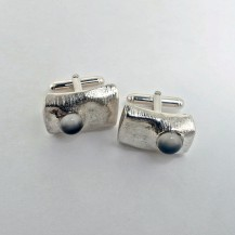 Cufflink | Cat's Eye and sterling silver