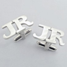 "Cufflink | One of the many styles of ""initial"" cufflinks"