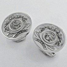 Cufflinks | Coat of Arms in Platinum