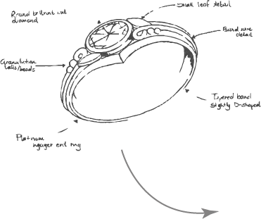Re-model design of brooch