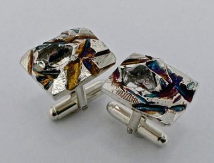 Cufflink | Herkimer Diamond crystals in sterling silver