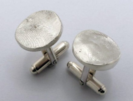 Cufflinks | The bride ad groom's fingerprints for The Father-of-the Bride