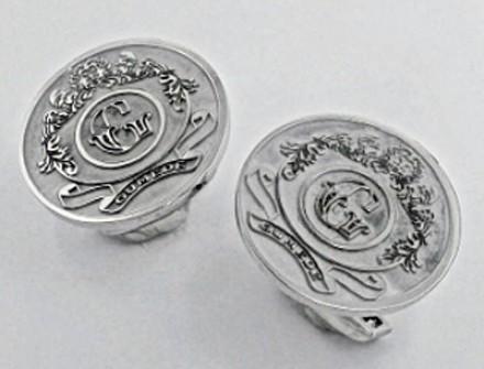 Cufflinks | Coat of Arms in Platinum