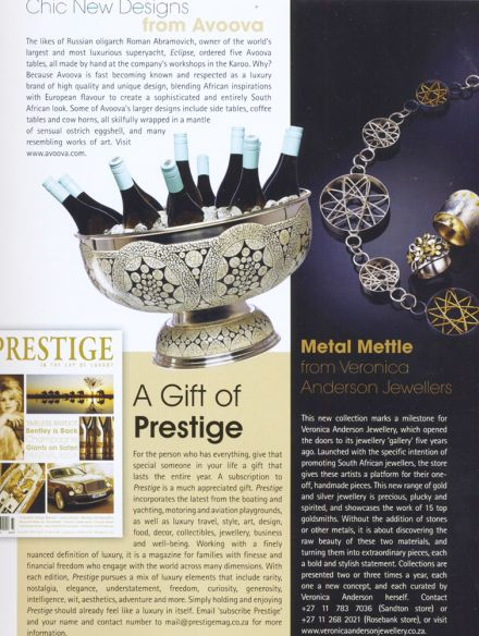 Veronica Anderson press | Prestige Issue 44
