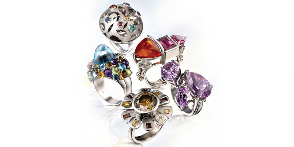Veronica Anderson Jewellery Collection | WHAT PLATINUM CAN DO FOR COLOUR - 2008